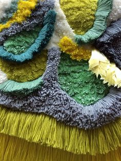 Woven wall hanging / Furry Pistachio n. 2 // Handwoven Tapestry Wall hanging Weaving Fiber Art Textile Woven Home Decor Jujujust