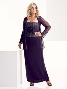 Plus Size Vintage Mother of Bride Dresses