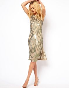 Needle & Thread | Needle & Thread Era Silk Midi Dress at ASOS