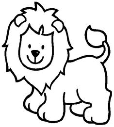 Simple Lion color page. Animal coloring pages. Coloring pages for kids. Thousands of free printable coloring pages for kids! Zoo Animal Coloring Pages, Lion Coloring Pages, Coloring Pages For Girls, Free Coloring, Coloring Books, Kids Coloring, Colouring, Easy Animal Drawings, Outline Drawings