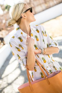 We love everything about this pineapple tunic.