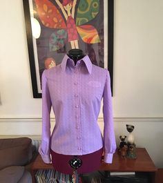 Make Time, Shirt Dress, Blouse, Covered Buttons, Stitching, Cool Stuff, Purple, Instagram Posts, Mens Tops
