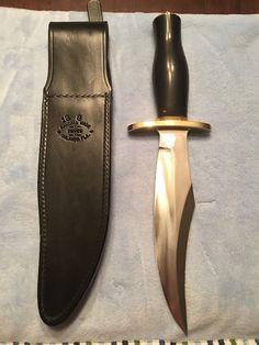 "Randall Knives Knife Bear Bowie Model 12-8"" Carbon Blade Black Handle   eBay"