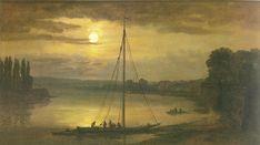 Elbe seen from Brühl's Terrace J.C.C. Dahl (1824) Painting - oil on canvas