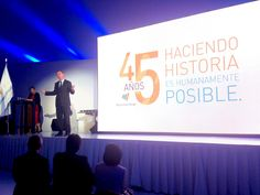 Jonas Prising CEO de ManpowerGroup presente en el evento de los 45 años de la empresa.