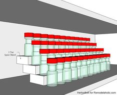 How to Build an Easy Tiered Spice Rack