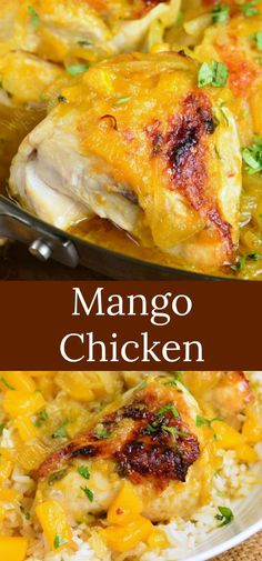 Mango Chicken recipe is a delicious baked chicken cooked with sweet and spicy chunky mango sauce It takes about an hour and perfectly goes with coconut rice chicken bakedchicken mangochicken rice chickenandrice # Iftar, Great Chicken Recipes, Healthy Chicken, Keto Chicken, Rotisserie Chicken, Grilled Chicken, Cooking Recipes, Healthy Recipes, Mango Recipes Baking