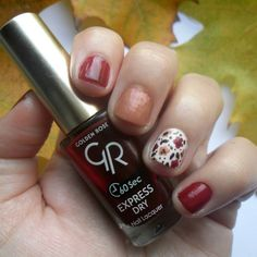 Fall Nail Art with Golden Rose. Express Dry Nail Lacquer 56! More photos:diary-of-a-beauty-addict.blogspot.gr  #diaryofabeautyaddict #elbeautythings #nails #nailart #nails2inspire #fallnails #goldenrose #nailpolish #greekblogger #greekbloggers #bbloggers #instablogger #lbloggers #nbloggers #mycosmolook #nailpromote