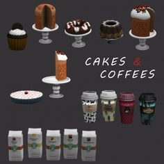 Leo Sims – Cakes coffees for The Sims 4 Sims 4 Mods, Sims 3, Sims 4 Tsr, Sims 4 Traits, Sims 4 Kitchen, The Sims 4 Packs, Sims 4 Clutter, Casas The Sims 4, Donut Decorations
