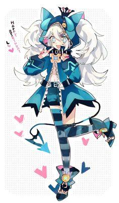 Lu (Elsword) Lu Elsword, Elsword Anime, Kawaii Chibi, Kawaii Anime, Cute Characters, Anime Characters, Pokemon, Fan Anime, Anime Demon