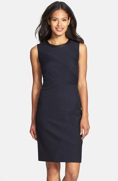 Classiques Entier® Pinstripe Sheath Dress available at #Nordstrom