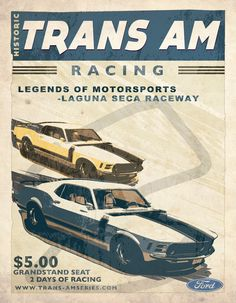 Vintage Race Poster 3 by on DeviantArt 1970 Ford Mustang, Mustang Boss, Mustang Fastback, Shelby Mustang, Shelby Gt, Ford Mustangs, Racing Seats, Auto Racing, Nascar Racing