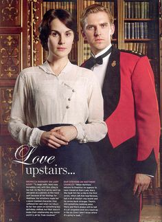 Michelle Dockery as Lady Mary and Dan Stevens as Matthew Crawley on Downton Abbey.