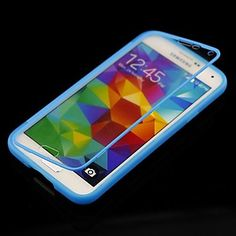 Solid Color with Touch Screen Full Body Case for Samsung Galaxy S5 I9600 (Assorted Color) - USD $ 5.99