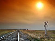 Sunset in the prairies.