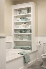 I need to add a shelf like this in my guest bath for more towel storage space.