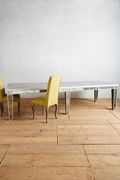 Slide View: 1: Fontaine Mirrored Dining Table