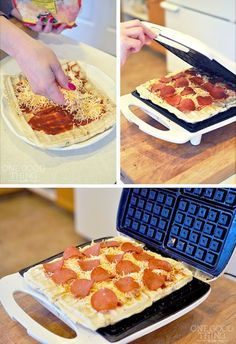 23 Things You Can Cook In A Waffle Iron | Waffle Iron Pizza.. Awesome!