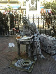 Street performer Rastro - Madrid
