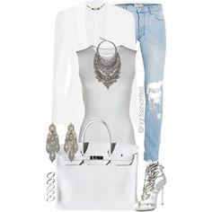 White by highfashionfiles on Polyvore featuring Alexander McQueen, Maison Margiela, Giuseppe Zanotti, Hermès, DYLANLEX, ASOS, Oscar de la Renta, Topman, women's clothing and women's fashion