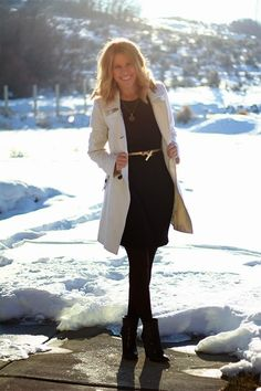 how to wear a dress in the winter