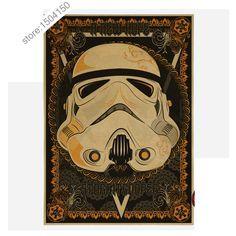 Vintage style Poster Star Wars kraft paper white soldiers retro nostalgia decorative painting 42X30CM