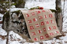 Needlepoint pattern ADVENT CALENDAR  cross by anetteeriksson