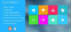 I fit wanst looking like Win8 was going to be very good QuickMetro - Template Responsive WordPress