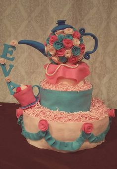 Little teapot diaper cake