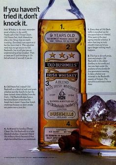 Bushmills #whiskey ad, 1964