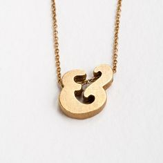 Gorgeous block letter ampersand necklace. Would be a lovely gift to a girlfriend or a best friend (or myself!)
