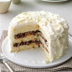 Lady Baltimore Cake Recipe -I first made this cake for my fathers' birthday and now it is the only cake that he requests. This cake has complex flavors and is very unique. —Cleo Gonske, Redding, California