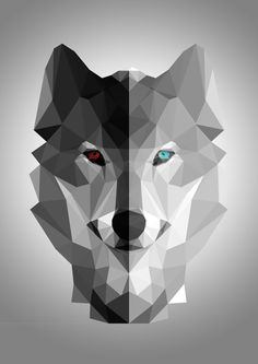 Wolf low poly image for reference Animal Drawings, Art Drawings, Geometric Wolf, Abstract Wolf, Abstract Landscape, Wallpaper Fofos, Polygon Art, Anime Wolf, Wolf Tattoos