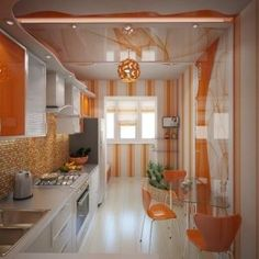 Top beautiful kitchen design ideas that will help you create the perfect heart of your home. Beautiful Kitchen Designs, Best Kitchen Designs, Beautiful Kitchens, Cool Kitchens, Decor Home Living Room, Boho Chic Living Room, Home Decor, Sweet Home, Orange Kitchen