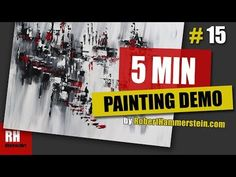 BLACK, WHITE, RED / Amazing Abstract Painting Demonstration / Easy & Satisfying / #15 - Regulus - YouTube Black And White Painting, Black And White Abstract, Black White, Painting Videos, Feeling Great, Abstract Art, Give It To Me, Amazing, Easy