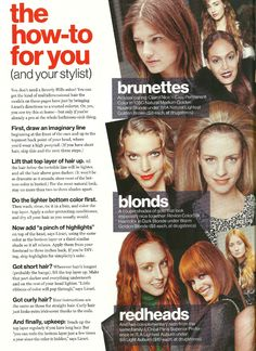 """Glamour Magazine November 2012: In the artcle, """"The How-to For You,"""" these coloring tips from Louis will help you become a coloring pro at home #louislicari #hair #beauty"""