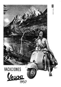 Piaggio Vespa, Vespa Lambretta, Vespa Scooters, Go Karts, Vespa Girl, Scooter Girl, Retro Ads, Vintage Advertisements, Ducati