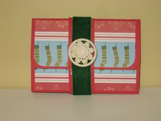 Giftcard Holder with vintage button closure.