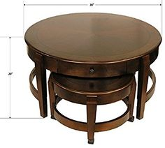 Amazon.com: Classic Nesting Coffee Table Set: Kitchen & Dining
