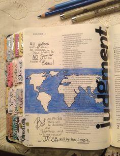 Obadiah 15 ♡ on pinny, on insta ♡ Journal Art, Bible Journal, Art Journaling, Ephesians 2 10, Lamentations, Scripture Art, Bible Art, Scriptures, Bible Verses