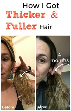 How I Got Thicker, Fuller Hair in 4 Months NATRUALLY! Healthier, stronger hair without buying anything expensive. No funny oils, drugs or medications. to get healthy hair 7 Natural Ways To Grow Hair Back Thicker and Stronger From The Roots! Grow Hair Back, Ways To Grow Hair, Help Hair Grow, How To Make Hair, Hair Not Growing, How To Soften Hair, How To Grow Hair Faster, Make Hair Thicker, Thicker Hair Products