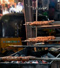 Excellent beef sheekh kebabs in Old City, Hyderabad