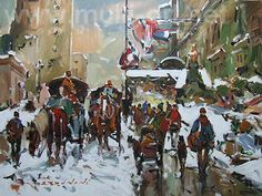 Original acrylic painting on canevas by Serge Brunoni new BOOK available october French Colonial, Of Montreal, Galerie D'art, City Scene, Canadian Artists, Winter Scenes, Figurative Art, New Books, Original Paintings