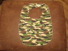 Special Needs Camouflage Child Bib or Cover up.  Reversible.  Flannel and Terry Cloth  Velcro fasteners.  Drooling bib. Very durable by NammersCrafts on Etsy