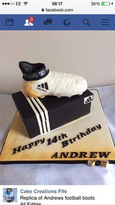 Adidas football boot birthday cake