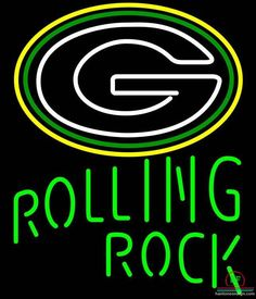 Rolling Rock Green Bay Packers Neon Sign NFL Teams Neon Light