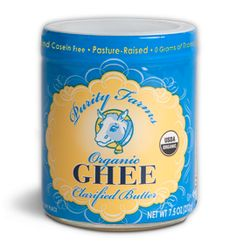 """Organic Ghee Ghee or clarified butter is made from butter and is a centuries old practice. It contains """"butyric acid - a fatty acid that has anti-viral and anti-cancer properties. It can be used in high heat cooking and is said to increase digestive fire - improving assimilation of foods / nutrients ..."""" Paul Pritchford"""