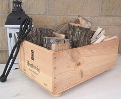 Log and kindling storage  Chateau Hortevie by BaxterandSnowwinebox