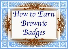 Website with meeting plans on how to earn every Brownie Badge