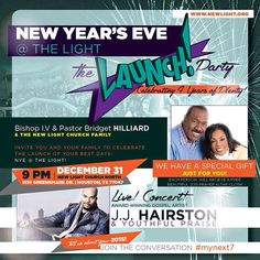 At the spiritual filling station New Light Christian Center Church at the New Year's Launch party to Bring the New Year!!! #NLC #ILoveNLC #MyNext7